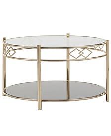 Metropolitan Tempered Glass Metal Cocktail Table