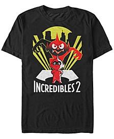 Pixar Men's Incredibles 2 Evil Jack Jack Demon, Short Sleeve T-Shirt