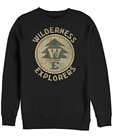 Pixar Men's Up Wilderness Explorer Badge, Crewneck Fleece