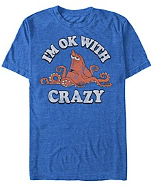 Men's Finding Dory Hank Ok with Crazy, Short Sleeve T-Shirt