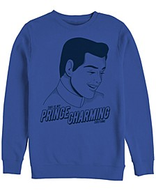 Men's Cinderella Prince Charming Costume, Crewneck Fleece