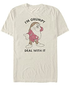 Men's Snow White and the Seven Dwarfs I'm Grumpy Deal with it, Short Sleeve T-Shirt