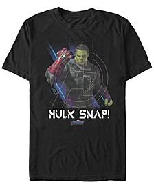 Men's Avengers Endgame Hulk Snap, Short Sleeve T-shirt