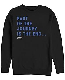 Men's Avengers Endgame Part of the Journey is the End Quote, Crewneck Fleece