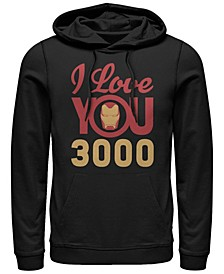 Men's Avengers Endgame Iron Man Face I Love You 3000, Pullover Hoodie