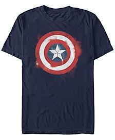 Men's Avengers Endgame Captain America Spray Paint Logo, Short Sleeve T-shirt