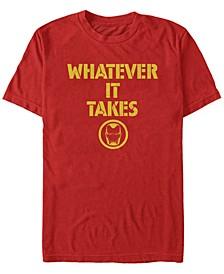 Men's Avengers Endgame Whatever It Takes Iron Man Logo, Short Sleeve T-shirt