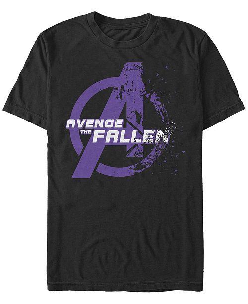 Marvel Men's Avengers Endgame Avenge the Fallen Logo, Short Sleeve T-shirt