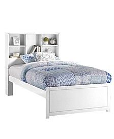 Caspian Twin Bookcase Bed with Nightstand