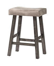 Saddle Non-Swivel Backless Bar Height Stool