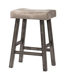 Hillsdale Saddle Non-Swivel Backless Bar Height Stool
