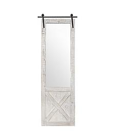 American Art Decor Wood Hanging Barn Door Wall Mirror