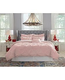 Pointehaven Knotted Pintuck Full Comforter Set
