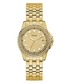 Women's Gold-Tone Stainless Steel Glitz Watch, 36mm