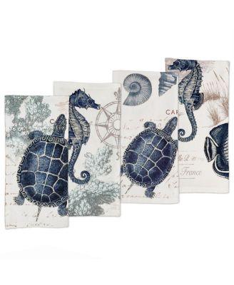 Seaside Postcard Napkin - Set of 4