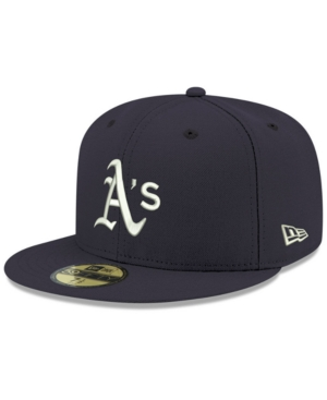 New Era Oakland Athletics Re-dub 59fifty-fitted Cap In Navy/white
