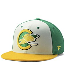 California Golden Seals Tri-Color Throwback Snapback Cap