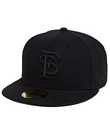 Florida State Seminoles Core Black on Black 59FIFTY Fitted Cap