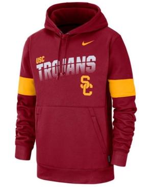 Nike Men's Usc Trojans Therma Sideline Hooded Sweatshirt