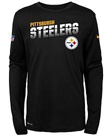 Big Boys Pittsburgh Steelers Sideline Long Sleeve T-Shirt