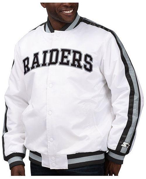 Starter Men's Oakland Raiders The D-Line Starter Satin Jacket