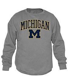 Men's Michigan Wolverines Midsize Crew Neck Sweatshirt