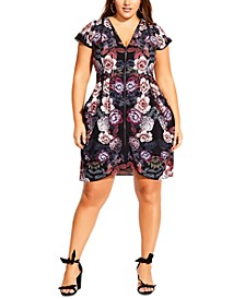 Trendy Plus Size Floral-Print Tunic Dress