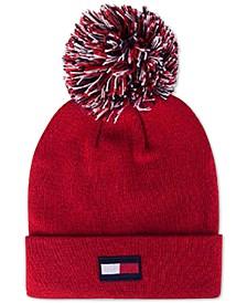 3-Color-Pom Ski Hat