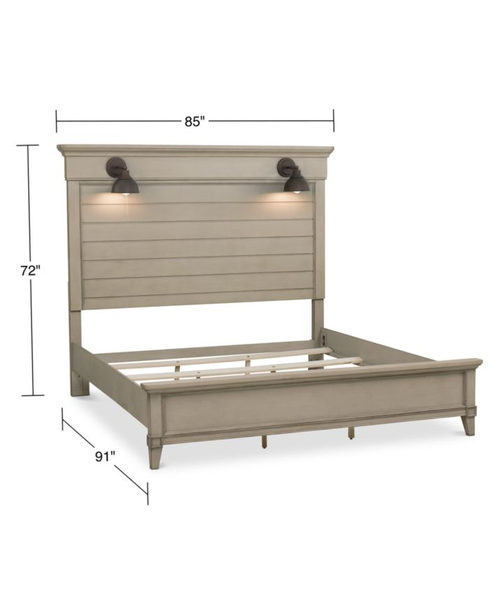 Furniture Sausalito King Bed  & Reviews - Furniture - Macy's