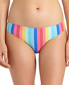 Juniors' Shiny Rainbow Hipster Bikini Bottoms, Created For Macy's
