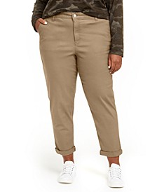 Trendy Plus Size High-Rise Relaxed Trousers
