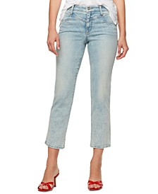 Cropped Front-Yoke Jeans