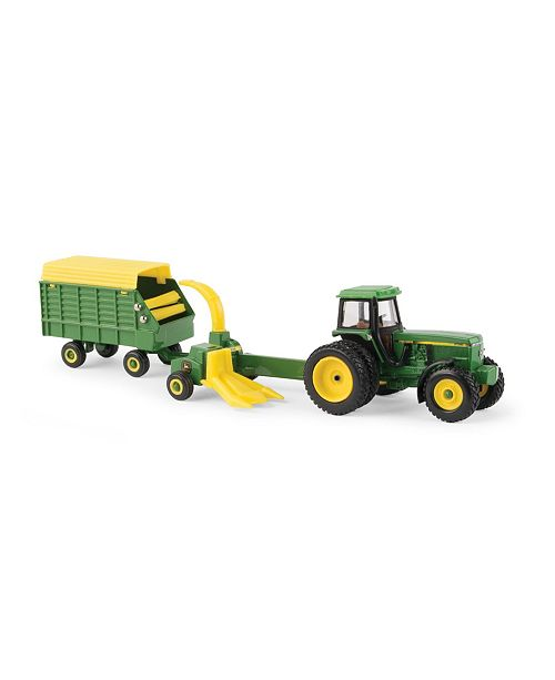 TOMY John Deere 1/64 Scale 4960 with Pull Type Forage Harvester and Wagon