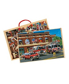 Back In Time American Fire Trucks Jumbo Wooden Puzzles