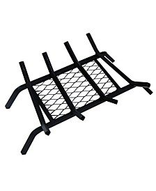 """1/2"""" Steel Grate 18"""" with Ember Retainer, 4 Bars"""