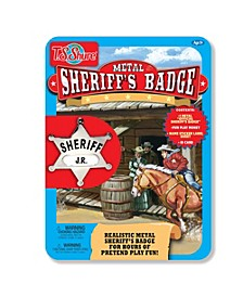 Sheriff's Badge Metal Tin Playset