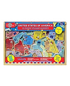 USA Wooden Trivia Magnets