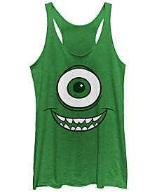 Disney Pixar Women's Monsters Inc. Mike Wazowski Eye Tri-Blend Tank Top