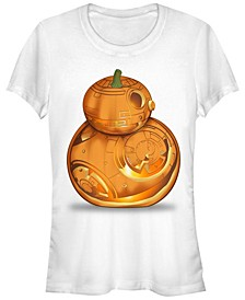 Star Wars Women's Bb-8 Pumpkin Carving Halloween Short Sleeve Tee Shirt