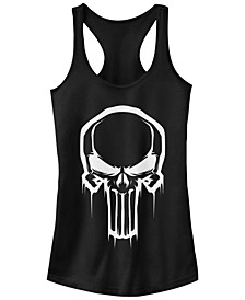 Marvel Women's Painted Negative Space Punisher Logo Racerback Tank Top
