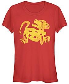 Legends of The Hidden Temple Women's Red Jaguar Short Sleeve Tee Shirt