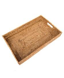 Artifacts Rattan Rectangular Tray