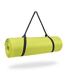 """0.5"""" Thick NBR Exercise Mat with Strap"""