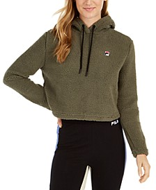 Teddy Bear-Fleece Cropped Hoodie