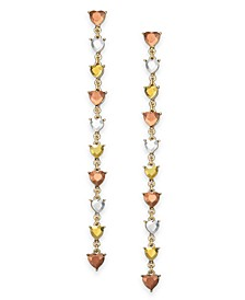 INC Gold-Tone Stone Heart Linear Drop Earrings, Created for Macy's