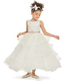 Little Girls Tiered Tulle Gown