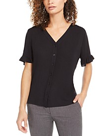 Ruffled V-Neck Top, Created For Macy's