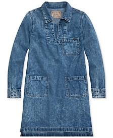 Big Girls Cotton Denim Dress