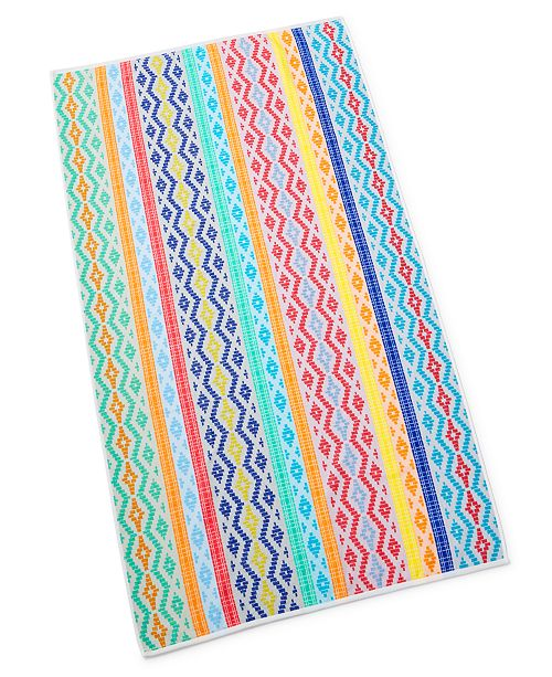 Martha Stewart Collection Inca Stripe Bath Towel, Created For Macy's