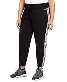 Plus Size Active Logo-Tape Jogger Pants